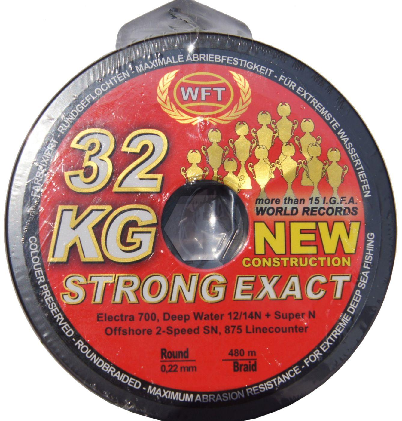 Geflechtschnur Angelschnur Geflochtene Schnur WFT KG Strong 600m 0,32mm 51kg Meeresschnur