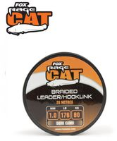 Fox Rage Cat Braid Leader Dark Camo 20m