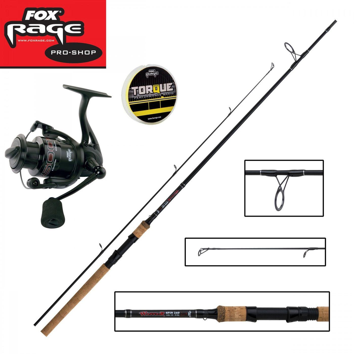 Fox Rage Angelrute Spinnrute Warrior 2 Spin 2,40m 15-50g 2 Teile