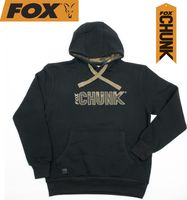 Fox Chunk Camo Applique Hoody Black Kapuzenpullover