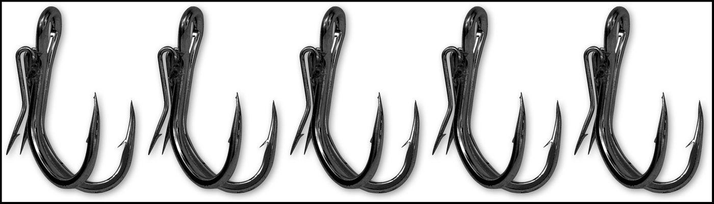 Gr/ö/ßen 3//0 Black Cat Ghost Hook Double Wallerhaken 4//0 Oder 5//0 zur Auswahl 5er Pack Angelhaken Zum Wallerangeln Welshaken Haken Zum Welsangeln Zwillingshaken